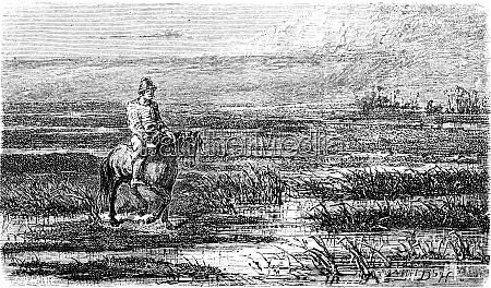 russian voyage livonia vintage engraving