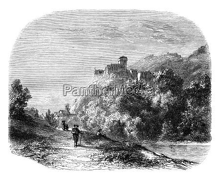 castle of lourdes landscaped near lourdes