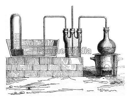device to prepare hydrochloric acid vintage