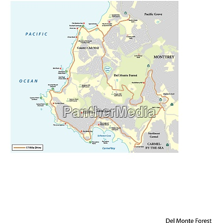 map of seventeen mile drive a