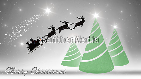 merry christmas with santa claus and