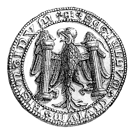 small seal of the town of
