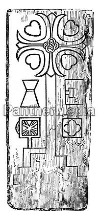 twelfth century marisk richmondshire vintage engraving