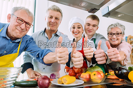 trainees and their nutritionist in a