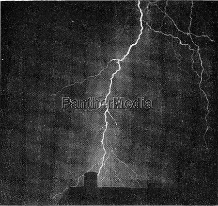 photograph of a violent thunderbolt vintage