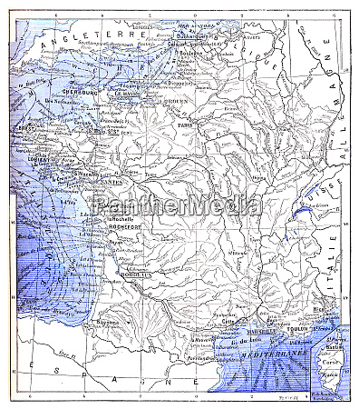topographical map of the ports of