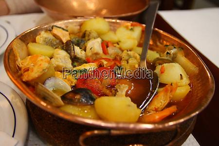 cataplana specialty in a copper casserole