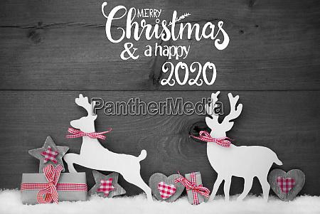 gift deer heart snow merry christmas