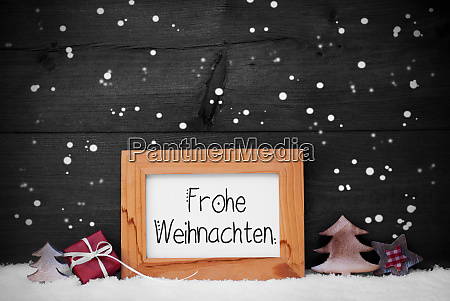 frame gift tree snow snowflakes frohe