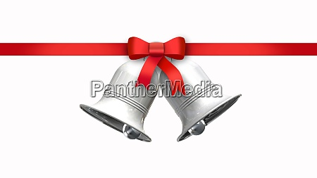 decorative red bow with horizontal ribbon