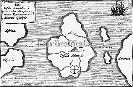 the legendary island of atlantis vintage