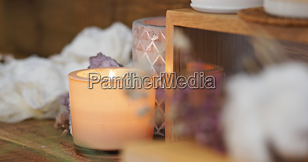 aroma candle decoration at home