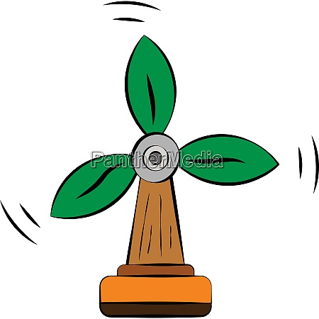 renewable energy from windmill tree vector