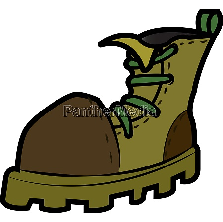 high ankle army boot vector or