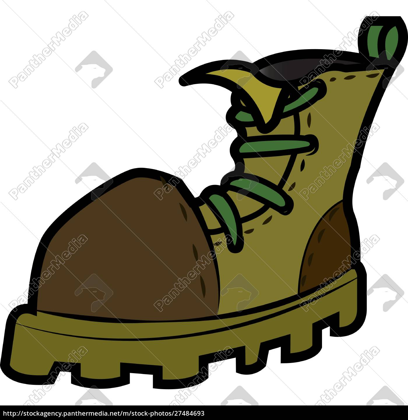high, ankle, army, boot, vector, or - 27484693