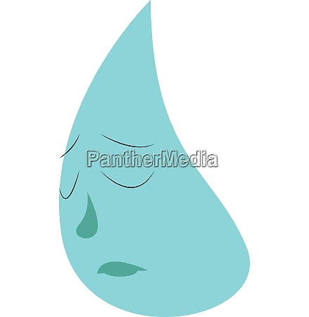 water drop vector or color illustration