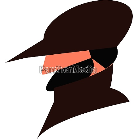 thick mustacho vector or color illustration