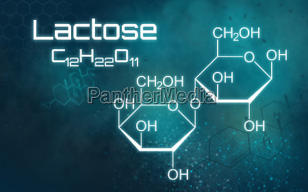 chemical formula of lactose on a