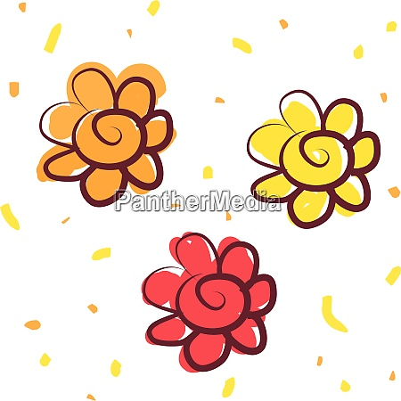 a yellow flower vector or color