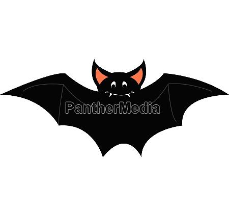 a happy bat vector color illustration