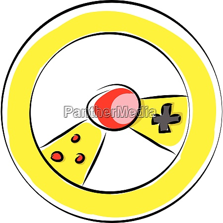 yellow gaming wheel with controls