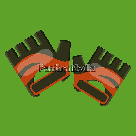 hand gloves vector color illustration