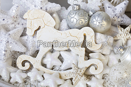 decorative rocking horse xmas ornament