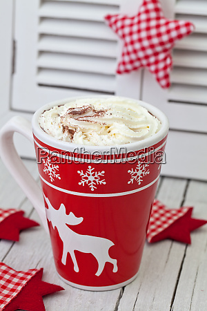 scandinavian style xmas decoration with hot