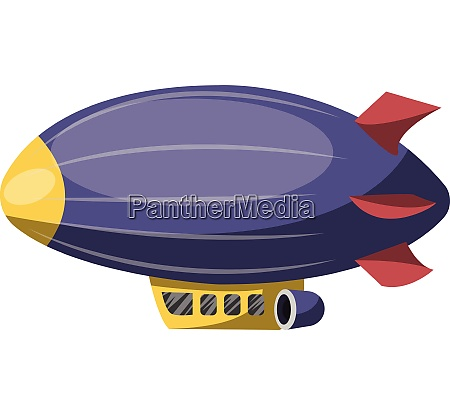 big purple aircraft vector illustration on