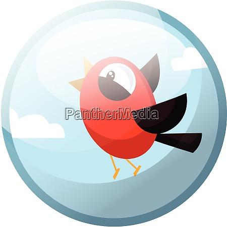 cartoon character of a red bird