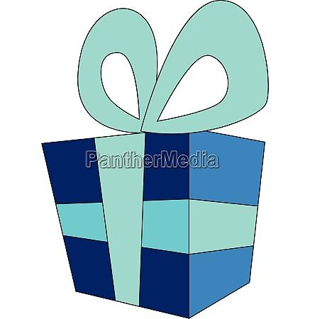 gift box with dark blue wrap