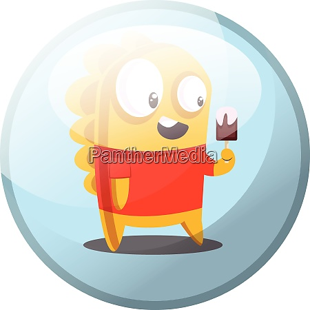 cartoon character of yellow monster in