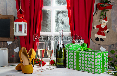christmas decoration with gifts two