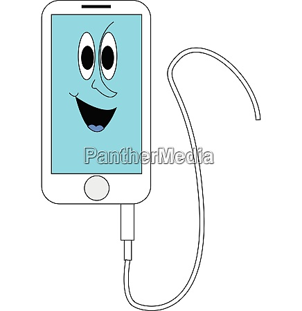 white and blue smiling iphone with