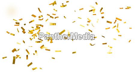 golden shiny confetti