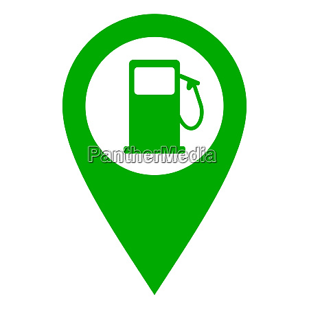 gas station and location pin