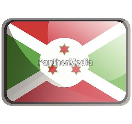 vector illustration of burundi flag on
