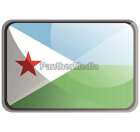vector illustration of djibouti flag on
