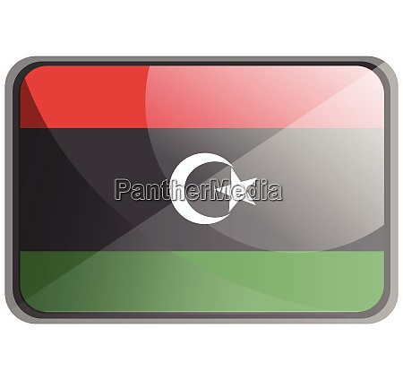 vector illustration of libya flag on