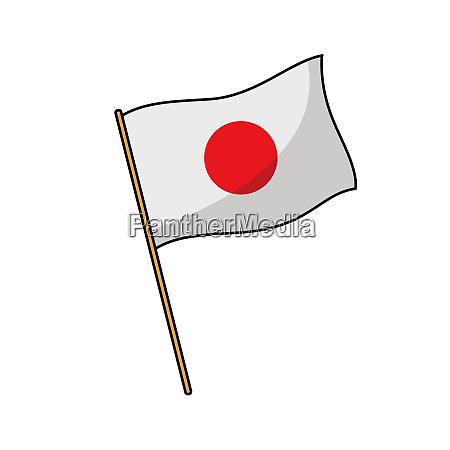 japan flag nation illustration wind culture