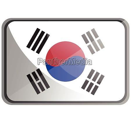 vector illustration of south korea flag