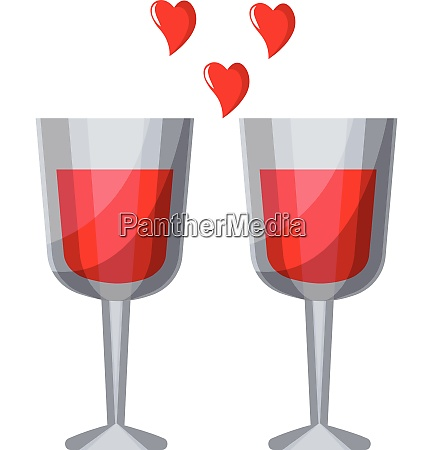 two wine glasses with red liquid