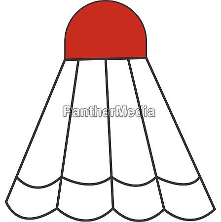 a cartoon shuttlecock vector or color