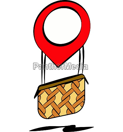 air balloon of localization symbol vector