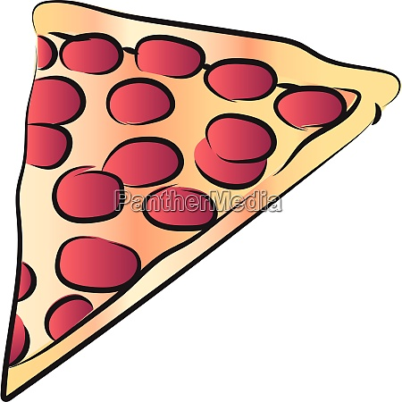 slice of cheese pepperoni pizza vector