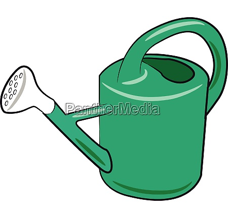 green watering can vector or color