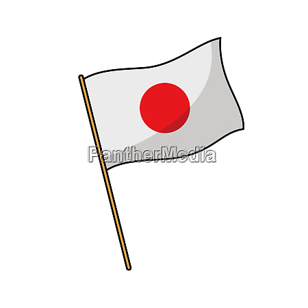 japan, flag, nation, illustration, wind, culture - 27488432