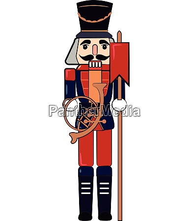 wooden toy soldier with wand