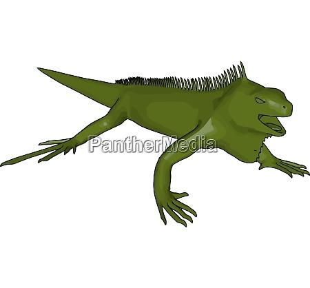 green wild reptile vector or color