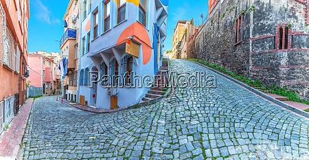 fener district of istanbul beautiful narrow
